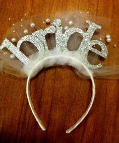 Bride Headband- big letters. $30.00, via Etsy. So cute for the bachelorette party!