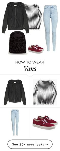 """""""Sans titre #5472"""" by youngx on Polyvore featuring Vans, H&M, J.Crew and American Vintage"""