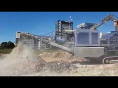ElectroMax Overband Magnet operating on a mobile crusher recycling aggregate Magnets, Recycling, Upcycle