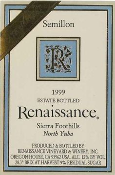 1999 Renaissance Vineyard Late Harvest Semilion 500 mL *** Be sure to check out this awesome product.