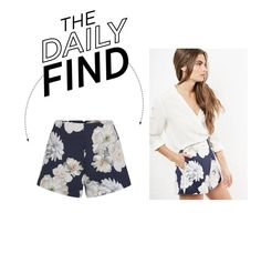 """Daily Find: Finders Keepers Floral Print Shorts"" by polyvore-editorial ❤ liked on Polyvore featuring Finders Keepers and DailyFind"