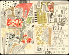 RICHARD FAUST #art #journal #sketchbook #moleskine #lettering JOURNAL OUTCASTS