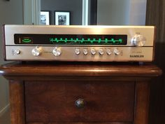 Vintage Rambler CT-4053 tuner from the early'70s now fully restored and ready to add to the Rambler system I'm putting together. There were 7 lamps to replace, 6 of them were the old fuse type!