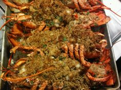 Delicious, easy recipe for Baked Stuffed Lobster, New England Style. Delicious, easy recipe for Baked Stuffed Lobster, New England Style. Fish Dishes, Seafood Dishes, Fish And Seafood, Shellfish Recipes, Seafood Recipes, Cooking Recipes, Baked Stuffed Lobster, Paella, Great Recipes