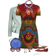 A fashion look from July 2016 featuring Valentino dresses, Alexander McQueen jackets en Valentino flats. Browse and shop related looks.