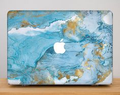 Hard Plastic MacBook air Case Marble White Grey Black by 365case