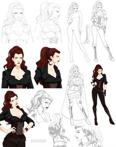 Jayna design (commission) by Precia-T on DeviantArt Character Model Sheet, Fantasy Character Design, Character Modeling, Character Drawing, Character Design Inspiration, Character Illustration, Character Portraits, Character Concept, Concept Art