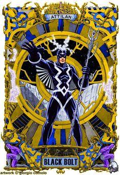 Black Bolt by Giorgio Comolo Marvel Comics Superheroes, Marvel E Dc, Marvel Heroes, Anime Comics, Marvel Universe, Marvel Comic Character, Marvel Comic Books, Marvel Characters, Comic Books Art