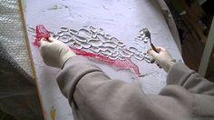 ...hier ein mit Spachtelmasse gestaltetes Bild Teil1.. ..I show you the usage of modelling paste ..part1..