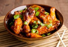 Sweet Korean Chicken Wings: These baked chicken wings have al the right flavors: Sweet, salty, sour, and spicy! You won't be able to stop with one! Perfect for game day!