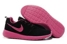 new style 6fc9e 10235 Nike Roshe Run Womens Shoes Hyp Black Pink -   Cheap Nike Air Max, Nike  Free Run, Nike Blazer Shoes Sale, Everyth.