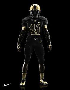 Army Black Knights uniform for 2012 Army-Navy Game via Nike