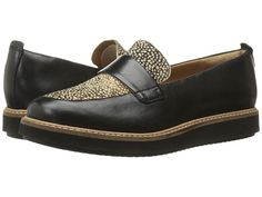 Clarks Glick Avalee Black Leather/Printed Haircalf - Zappos.com Free Shipping BOTH Ways