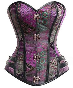 f5be6e00219 nice Charmian Women s Steel Boned Beauty Steampunk Body Shape Burlesque  Overbust Corset Purple X-Large