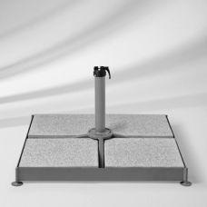 Sockel M4, 120 kg, Stahl verzinkt für Glatz Sonnenschirme, ohne Standrohr, ohne Platten