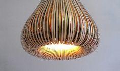 A paper lamp created by Paula Arntzen.