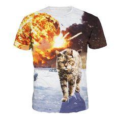 a9f55d102d942 Jiayiqi Frauen Männer Lässig 3D Katze Bedruckt T-Shirt Kurzarm Tops T-Shirts   Amazon.de  Bekleidung