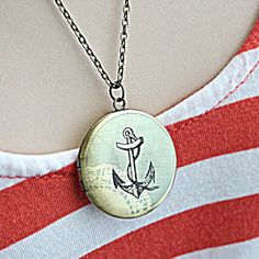 Anchor's Away Locket now featured on Fab.