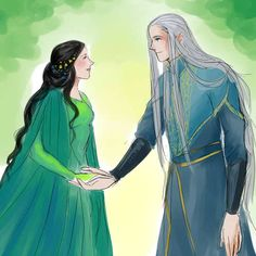 Melian and Thingol, I'm guessing. They have such a cute story.