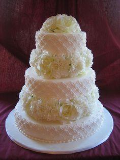 White Wedding Cake, #white #wedding