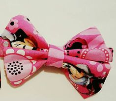 Pink Minnie Mouse Hair Bow by BundlesOfJoyDesigns on Etsy