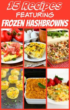 15 Wow-Worthy Recipes With Frozen Hashbrowns - 15 Recipes Featuring Frozen Hashbrowns - Frozen Hashbrown Recipes, Frozen Hashbrowns, Best Breakfast, Breakfast Recipes, Frozen Breakfast, Breakfast Sandwiches, Breakfast Healthy, Breakfast Burritos, Breakfast Casserole