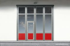 SCHNEIDER Industrial and Commercial Folding Door aluminium with windows and glass Industrial Door, Folding Doors, Aluminium, Commercial, Windows, Glass, Home, Showroom, Steel