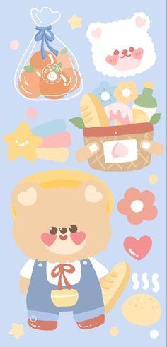 Cute Pastel Wallpaper, Soft Wallpaper, Bear Wallpaper, Cute Patterns Wallpaper, Cute Disney Wallpaper, Kawaii Wallpaper, Animal Wallpaper, Wallpaper Iphone Cute, Galaxy Wallpaper