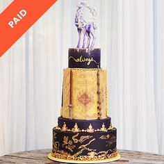 The most gorgeous Harry Potter wdding cake I've ever seen