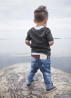 Little boy.  Love those jeans and belt!