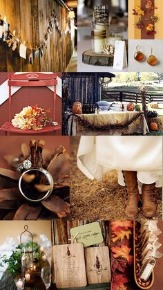 Color Day Themes: Rustic Romance | The SweetNest  #TheSweetNest #rusticwedding #fallwedding #weddinginspiration