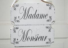 Madame Monsieur Thank YOU Wedding Signs Wedding by familyattic, $43.95