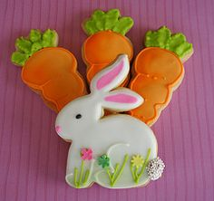 Bunny and carrot cookies
