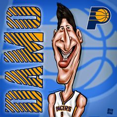 #Damjan #Rudež #Indiana #Pacers #NBA Caricature by Tomislav Zvonaric - Deviantom 2014 all rights reserved