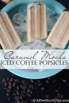Caramel Mocha Iced Coffee Popsicles #recipe #indelight A yummy treat!
