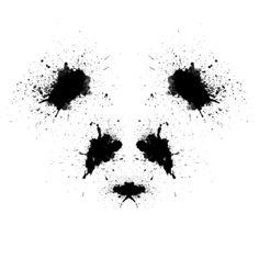 Rorshach Panda Art Print