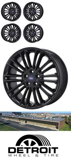 Auto Parts General 18 Ford Fusion Black Wheels Rims Factory Oem 2017 2016