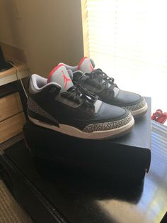 5abe7254f098 Mens retro jordan 3 black cement OG size 11.5 condition 9.5 10 box included