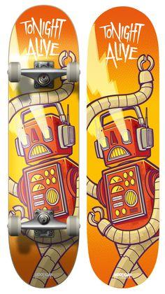 Tonight Alive - Board Design 2 by cronobreaker.deviantart.com on @deviantART