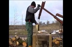 A man invents a way to chop firewood quickly and easily, using his own manually powered contraption. Rather than use his own momentum with a...