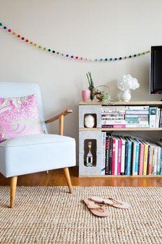 librero decorar con ladrillos