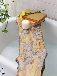 Bathe in bohemian luxury with this artisan, Philadelphia made, spalted maple tub board featuring beautiful pressed flowers with a resin inlay. Not only for baths, this board makes a beautiful...