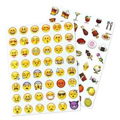 EMOJI STICKERS (€6,42) ❤ liked on Polyvore featuring home, home decor, office accessories and emoji stickers