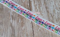 Love Has No Color US Designer 7/8 Grosgrain Ribbon - Matches Rainbow Waves & Dots - Ink And Glitter Ribbon by LulusBowtiqueSupply on Etsy https://www.etsy.com/listing/233480498/love-has-no-color-us-designer-78