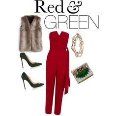 Red & Green by angieberrys on Polyvore featuring Angieberrys,Chicwish, Coast, Virgos Lounge and Mawi