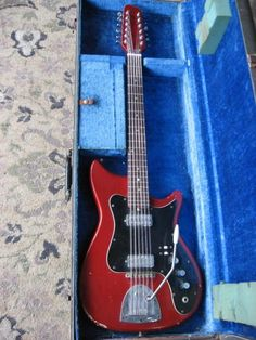 Kapa Continental 12 String 1967 Candy Apple Red | Reverb