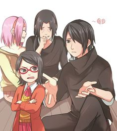 Sarada: Why aren't you as cool as Itachi-ojisan papa? (You can hear the sound of Sasuke's kokoro shattering)