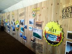 #Pacifico Event in Hawaii! All wood press wall!