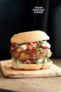 "Lentil Quinoa Meatloaf Burgers. Lentil Quinoa Burger patties with bbq glaze. Easy ""Meatloaf"" Burgers. Serve as burgers with buns or as patties over a salad. Vegan Nut-free Recipe 