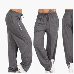 Description: Stay ultra comfortable in the Casual High Waist Oversized Loose Leggings Sports Pants. Perfect for lounging, these pants are soft and great to wear casually. Pair with your favorite tee and finish the look with casual kicks. Legging Sport, Sport Pants, Sports Leggings, Fashion Pants, Fashion Outfits, Womens Fashion, Sport Outfits, Cute Outfits, Type Of Pants